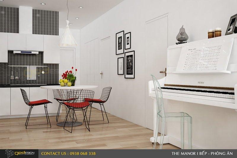 Thiết kế nội thất căn hộ chung cư The manor 2