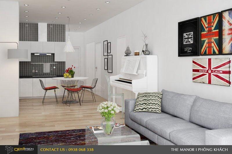 Thiết kế nội thất căn hộ chung cư The manor