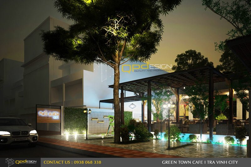 Thiết kế cafe sân vườn PHỐ XANH 1