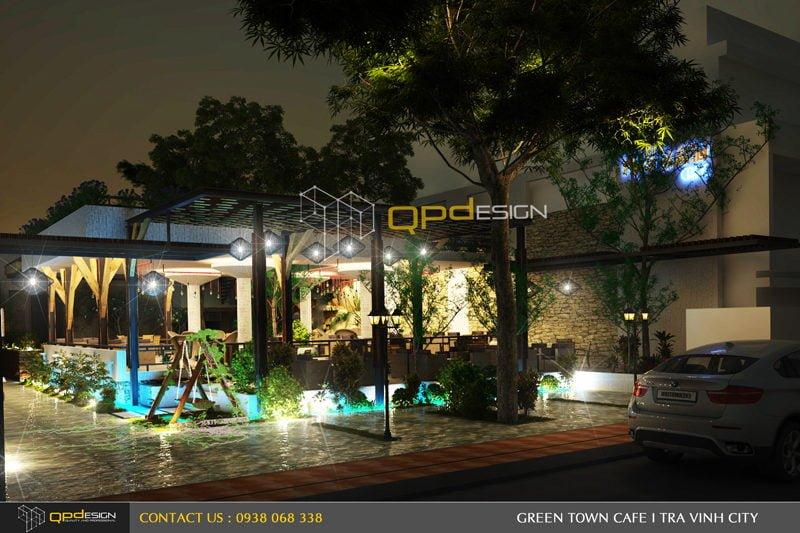 Thiết kế cafe sân vườn PHỐ XANH 2
