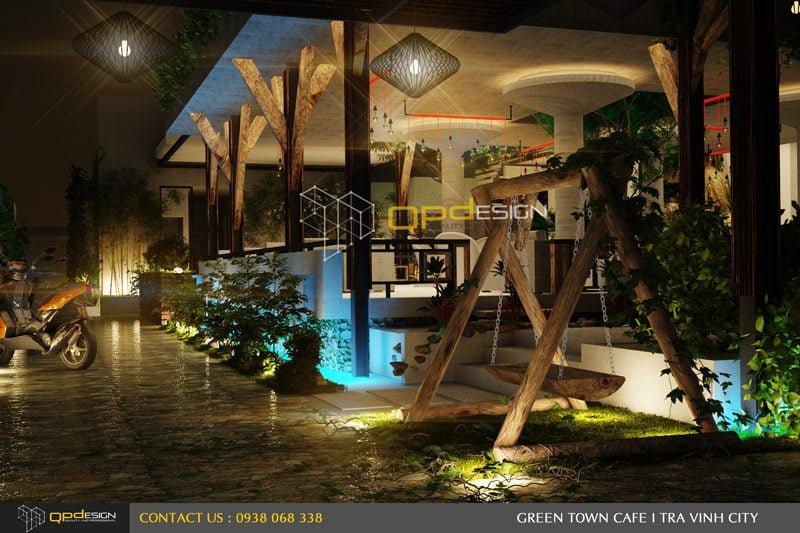 Thiết kế cafe sân vườn PHỐ XANH 3