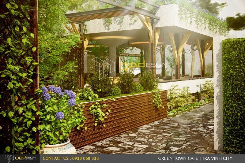 Thiết kế cafe sân vườn PHỐ XANH 4