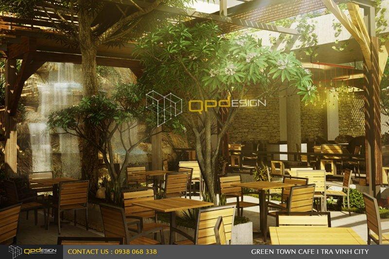 Thiết kế cafe sân vườn PHỐ XANH 5