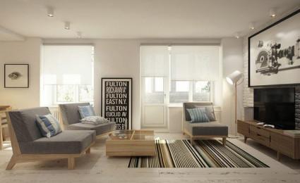Căn hộ 40 m2 thanh lịch với đồ đạc tối giản