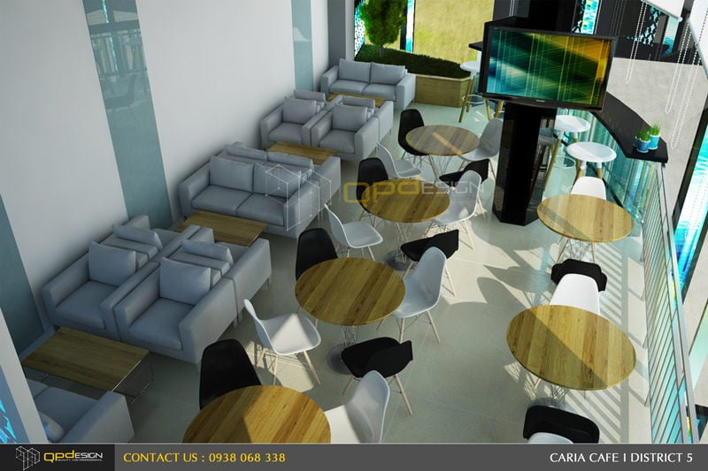 105 THIẾT KẾ NỘI THẤT CAFE CARIA qpdesign