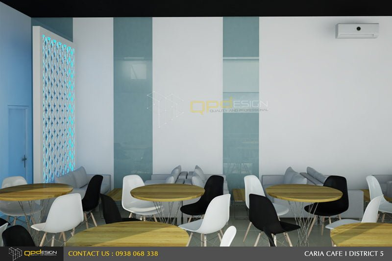 116 THIẾT KẾ NỘI THẤT CAFE CARIA qpdesign