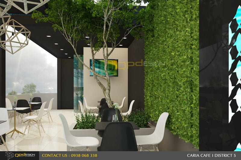 132 THIẾT KẾ NỘI THẤT CAFE CARIA qpdesign