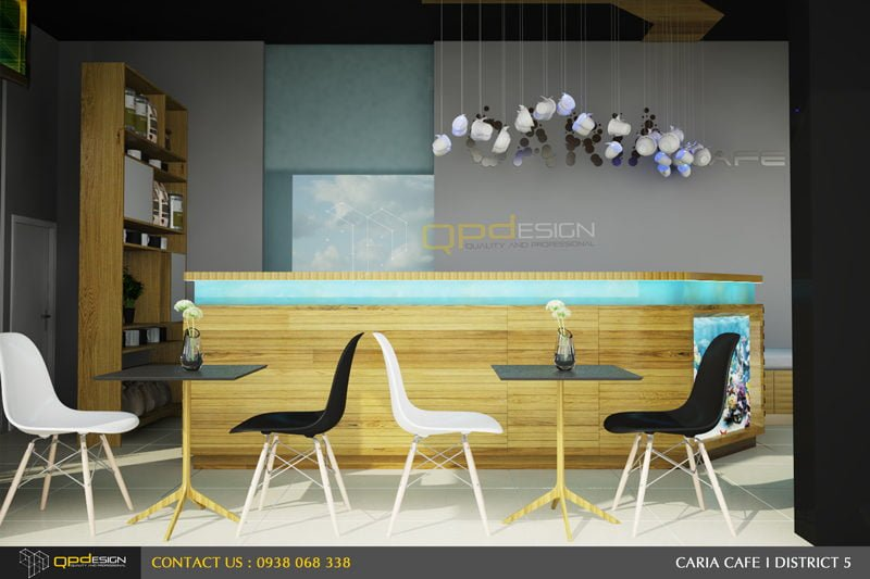 163 THIẾT KẾ NỘI THẤT CAFE CARIA qpdesign