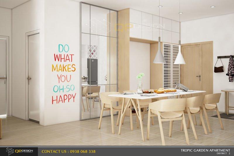 thiết kế nội thất căn hộ chung cư Tropic Garden 2