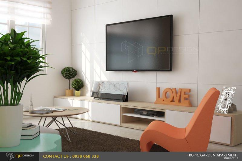 thiết kế nội thất căn hộ chung cư Tropic Garden 3