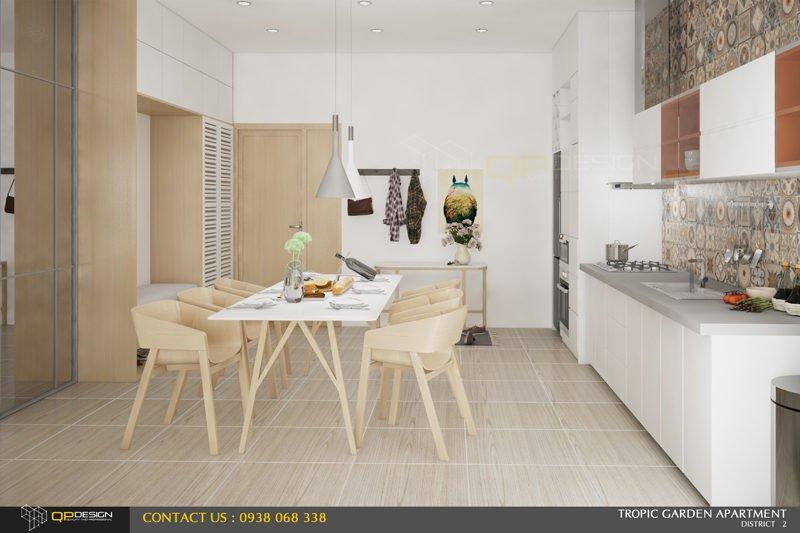 thiết kế nội thất căn hộ chung cư Tropic Garden 4