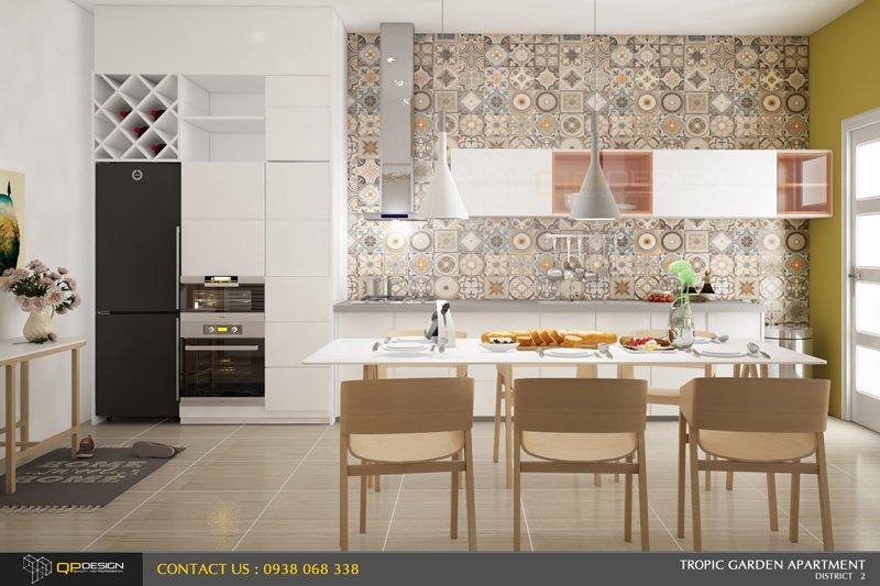 thiết kế nội thất căn hộ chung cư Tropic Garden 5