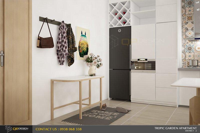 e4 Thiết kế nội thất căn hộ chung cư 84m2   Tropic Garden qpdesign