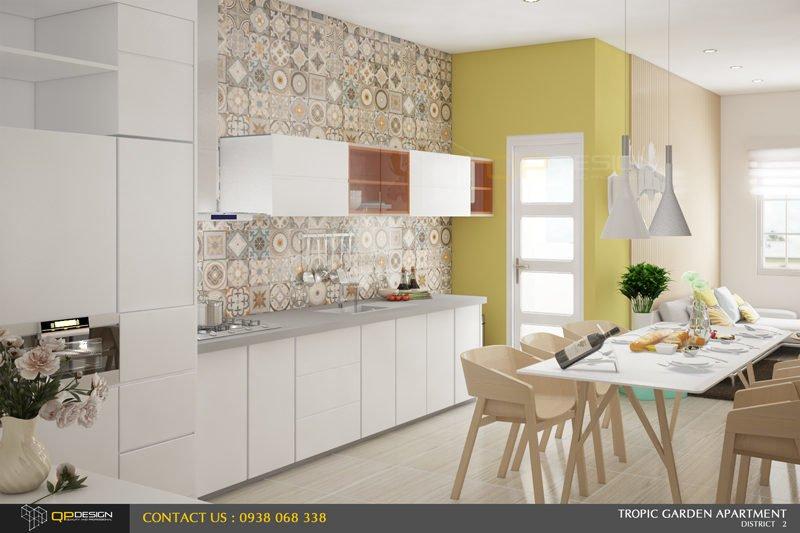 f3 Thiết kế nội thất căn hộ chung cư 84m2   Tropic Garden qpdesign
