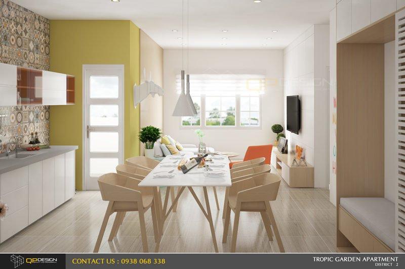 g3 Thiết kế nội thất căn hộ chung cư 84m2   Tropic Garden qpdesign