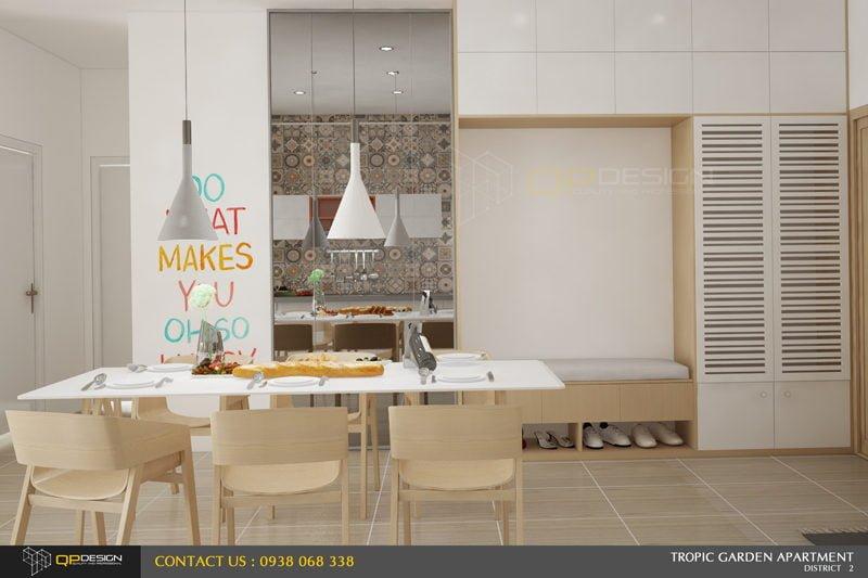 h2 Thiết kế nội thất căn hộ chung cư 84m2   Tropic Garden qpdesign