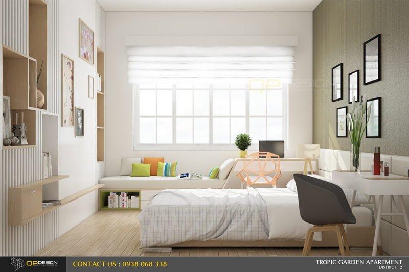 k2 Thiết kế nội thất căn hộ chung cư 84m2   Tropic Garden qpdesign
