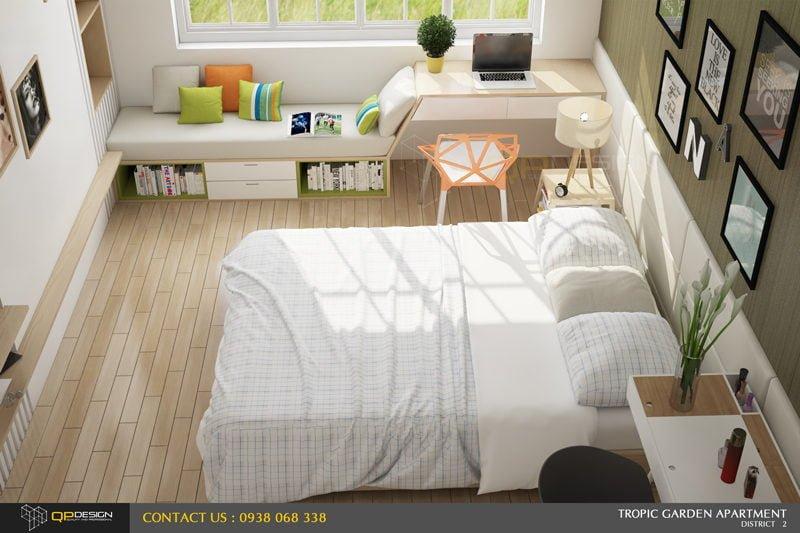 l2 Thiết kế nội thất căn hộ chung cư 84m2   Tropic Garden qpdesign