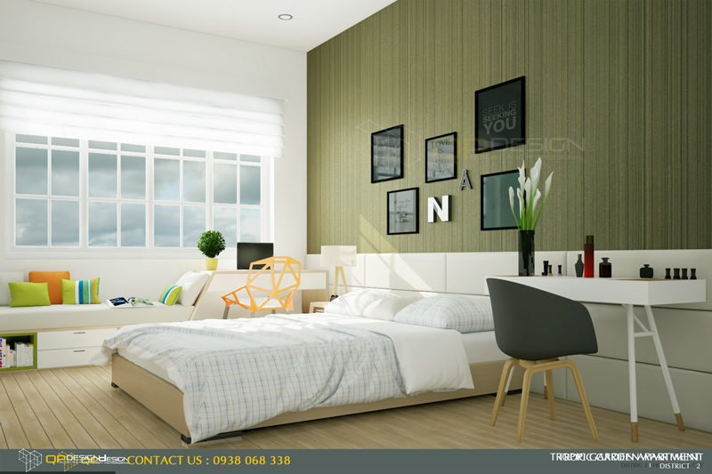m2 Thiết kế nội thất căn hộ chung cư 84m2   Tropic Garden qpdesign