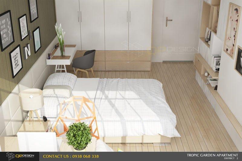 o2 Thiết kế nội thất căn hộ chung cư 84m2   Tropic Garden qpdesign