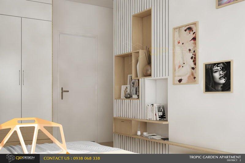 p2 Thiết kế nội thất căn hộ chung cư 84m2   Tropic Garden qpdesign
