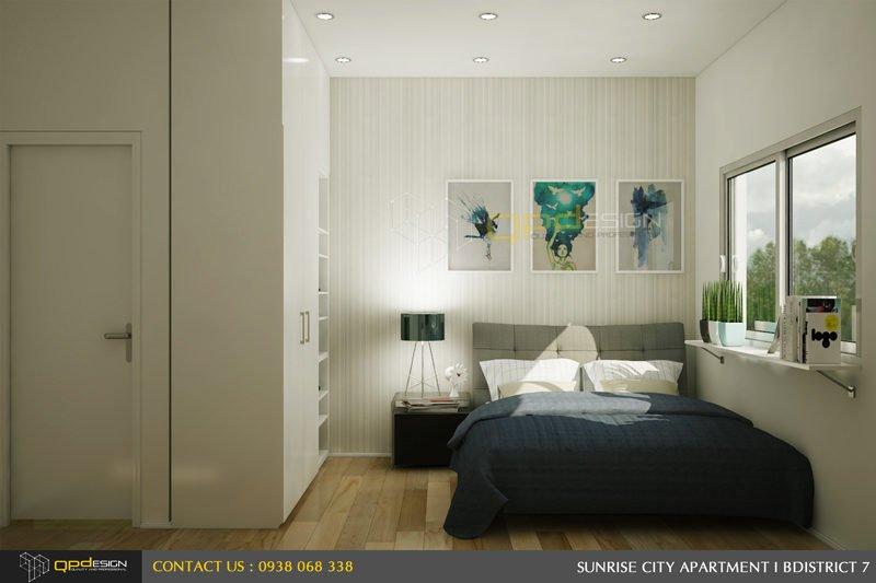phòng ngủ master căn hộ chung cư sunrise city