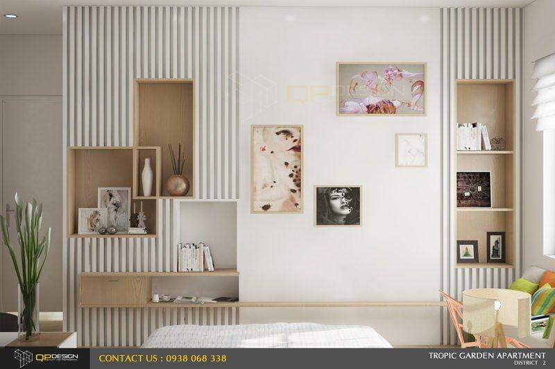 q2 Thiết kế nội thất căn hộ chung cư 84m2   Tropic Garden qpdesign