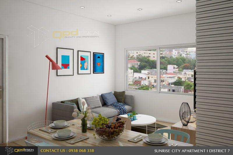 Thiết kế nội thất căn hộ chung cư Sunrise City 3