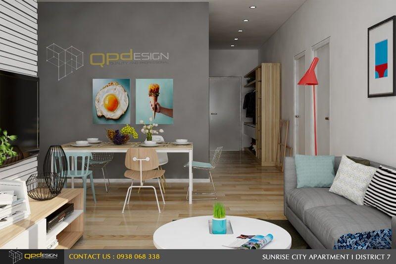 Thiết kế nội thất căn hộ chung cư Sunrise City 4
