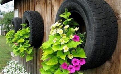 Hồi sinh những chiếc lốp xe cũ