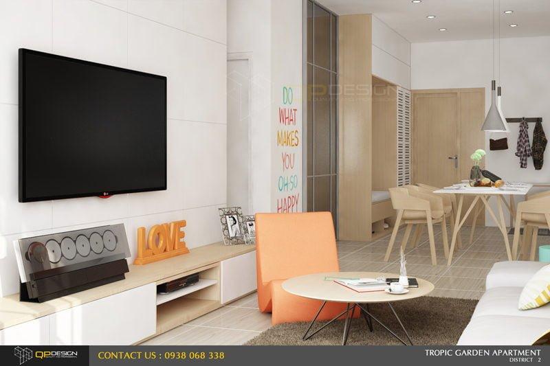 zza Thiết kế nội thất căn hộ chung cư 84m2   Tropic Garden qpdesign