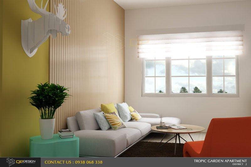 zzz Thiết kế nội thất căn hộ chung cư 84m2   Tropic Garden qpdesign