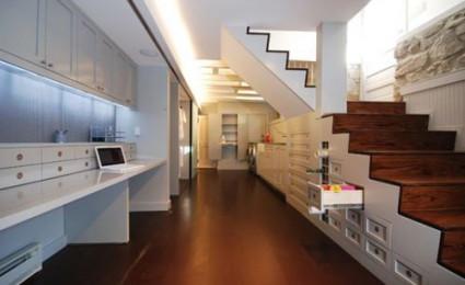 Những thiết kế cầu thang tích hợp hữu ích