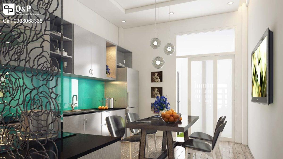 bep phong an 1 Thiết kế nhà phố khu dân cư Conic qpdesign