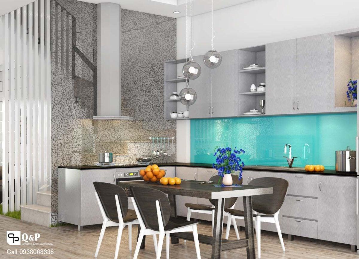 bep phong an 21 Thiết kế nhà phố khu dân cư Conic qpdesign