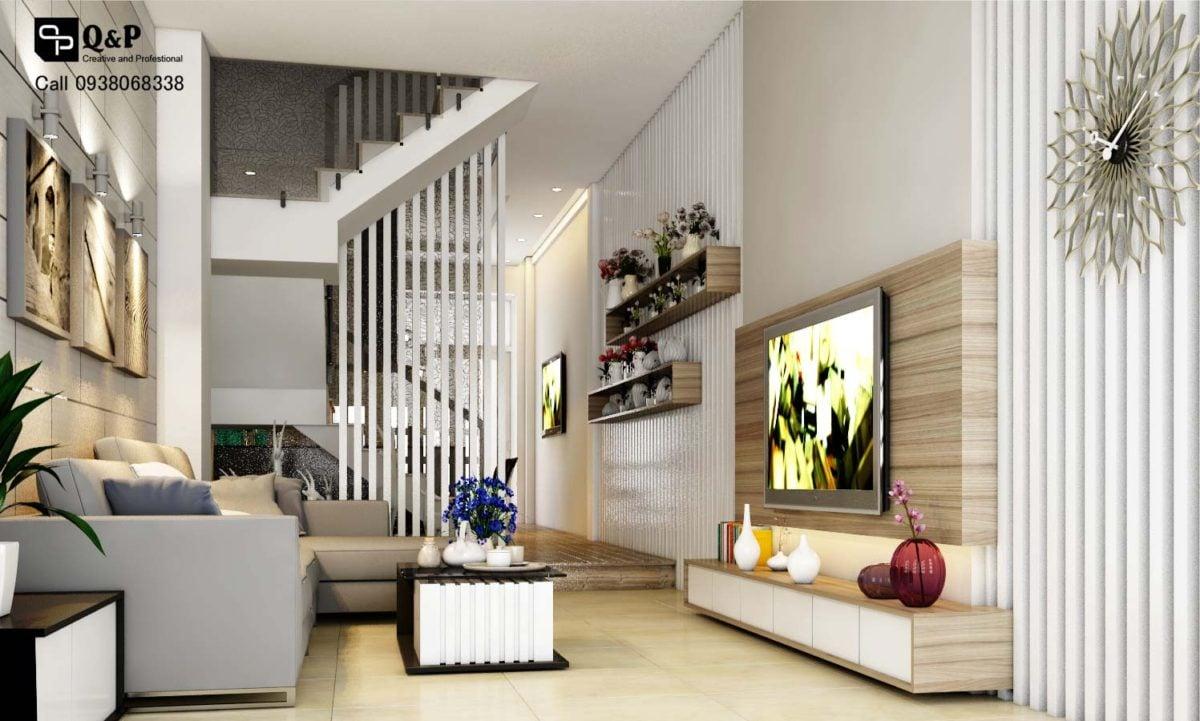phong khach 11 Thiết kế nhà phố khu dân cư Conic qpdesign