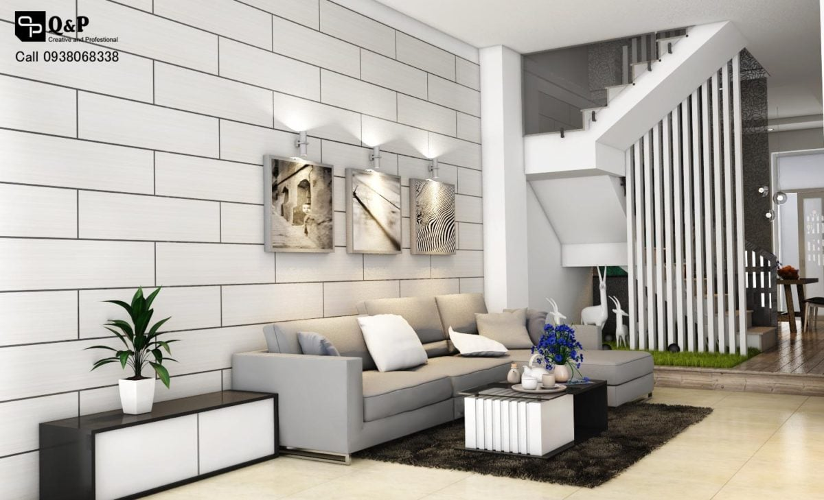phong khach 21 Thiết kế nhà phố khu dân cư Conic qpdesign