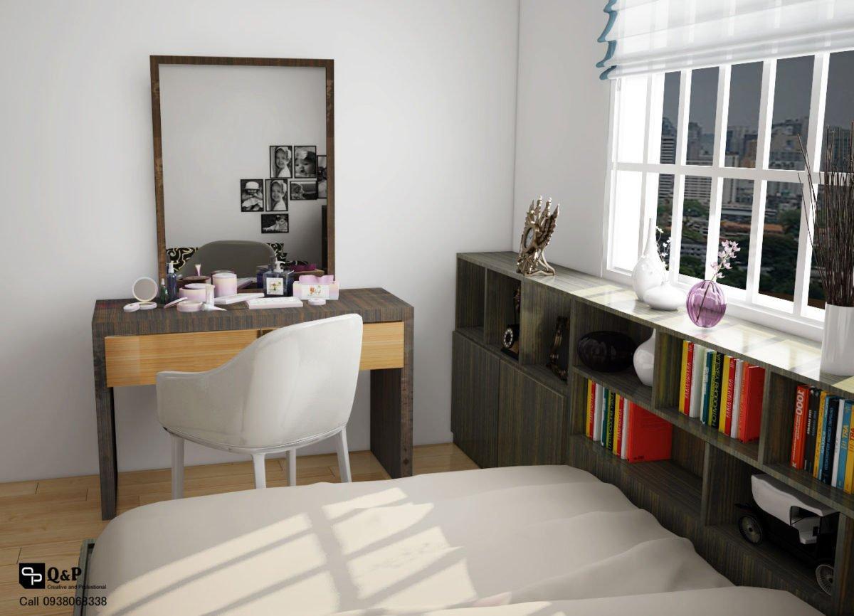 phong ngu 1 Cải tạo nội thất căn hộ chung cư Ehome 2   Anh Bình qpdesign