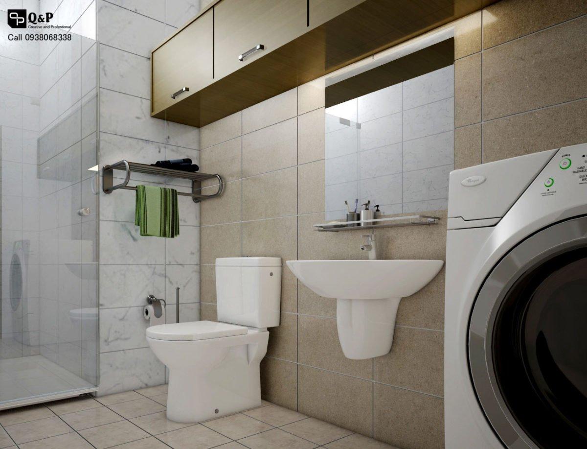 ve sinh 11 Cải tạo nội thất căn hộ chung cư Ehome 2   Anh Bình qpdesign