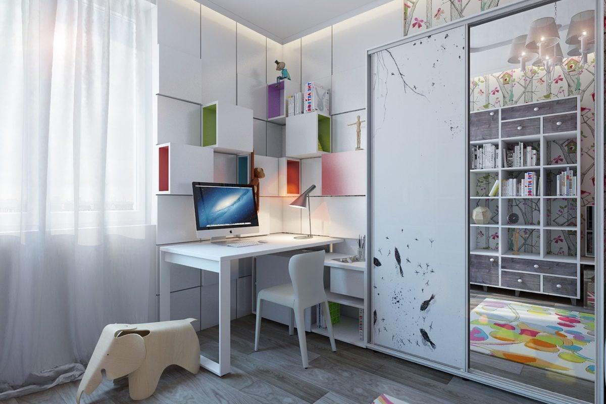 white-kids-desk