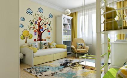 Những căn phòng trẻ em đầy ánh sáng và màu sắc với thiết kế lạ