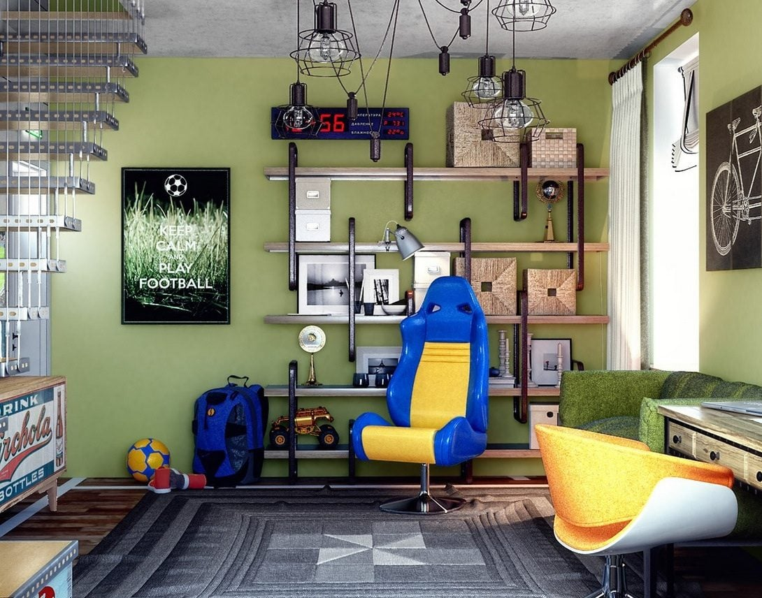 cool-teen-basement-bedroom