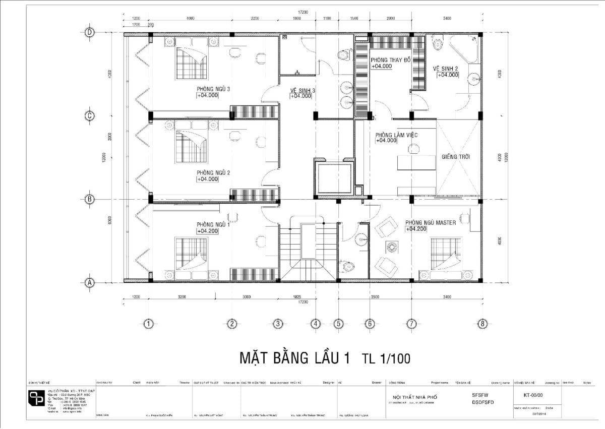 mat bang 1 Thiết kế biệt thự phố Quận 5 01 qpdesign