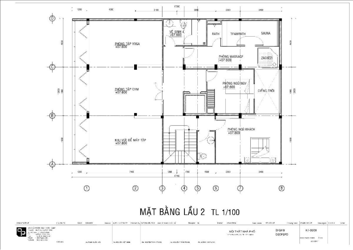 mat bang 3 Thiết kế biệt thự phố Quận 5 01 qpdesign