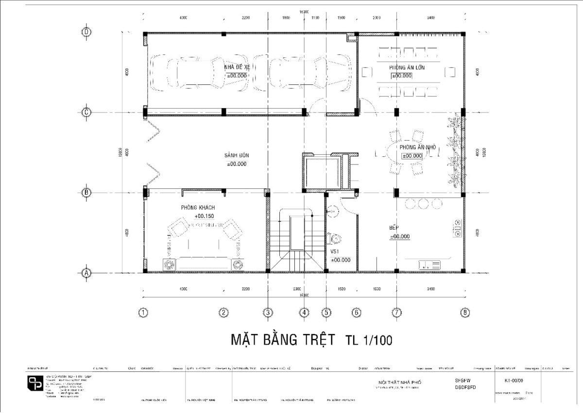 mat bang Thiết kế biệt thự phố Quận 5 01 qpdesign