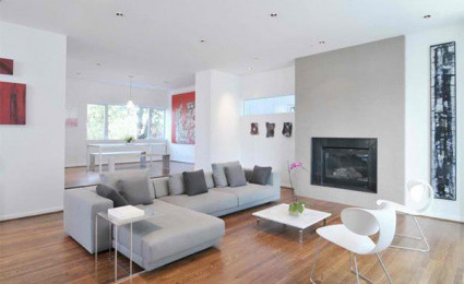 13 ý tưởng thiết kế phòng khách theo tông màu trắng và xám