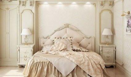 thiết kế phòng ngủ lãng mạn kiểu pháp