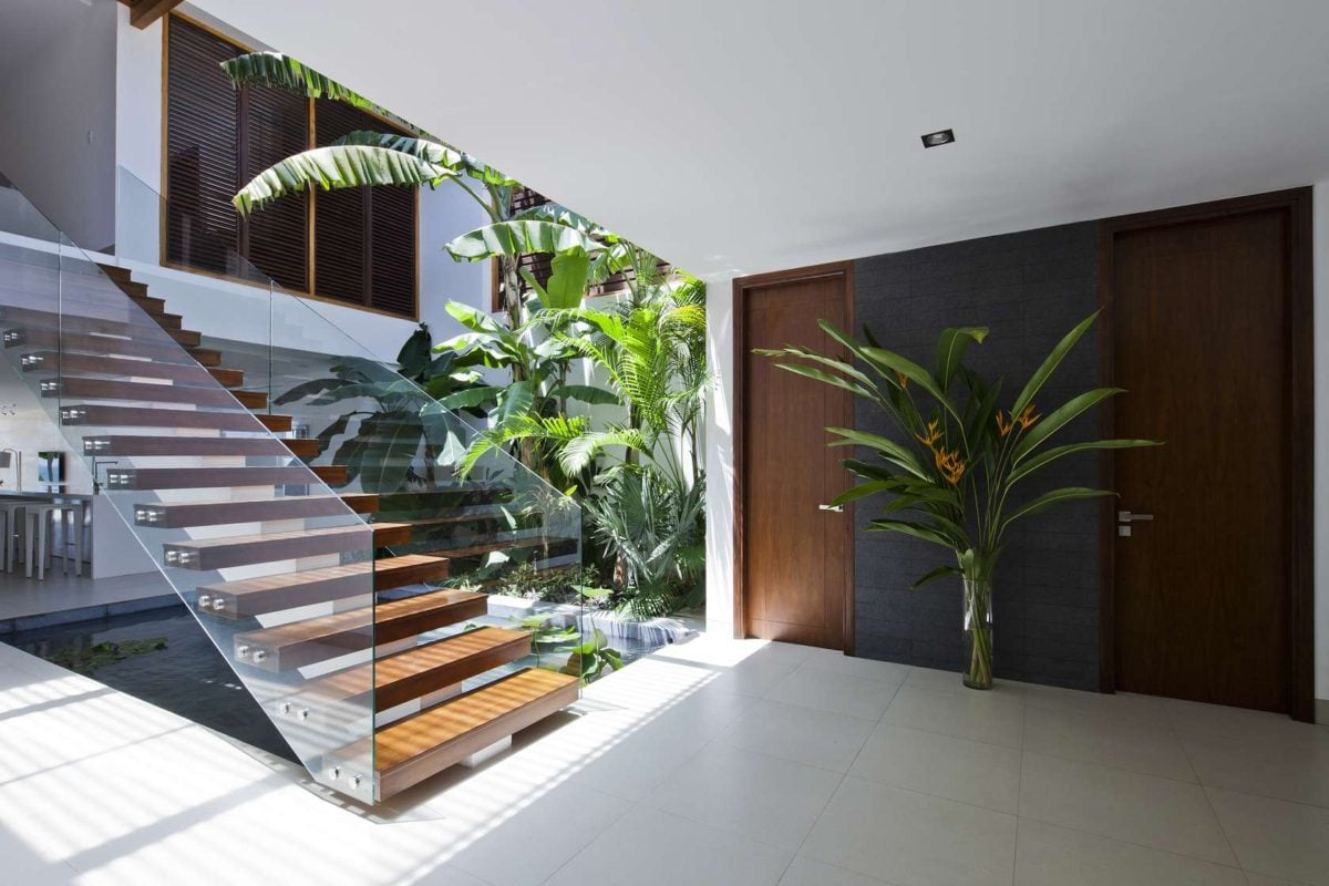 private entrance design Oceanique, dự án biệt thự sát biển. qpdesign