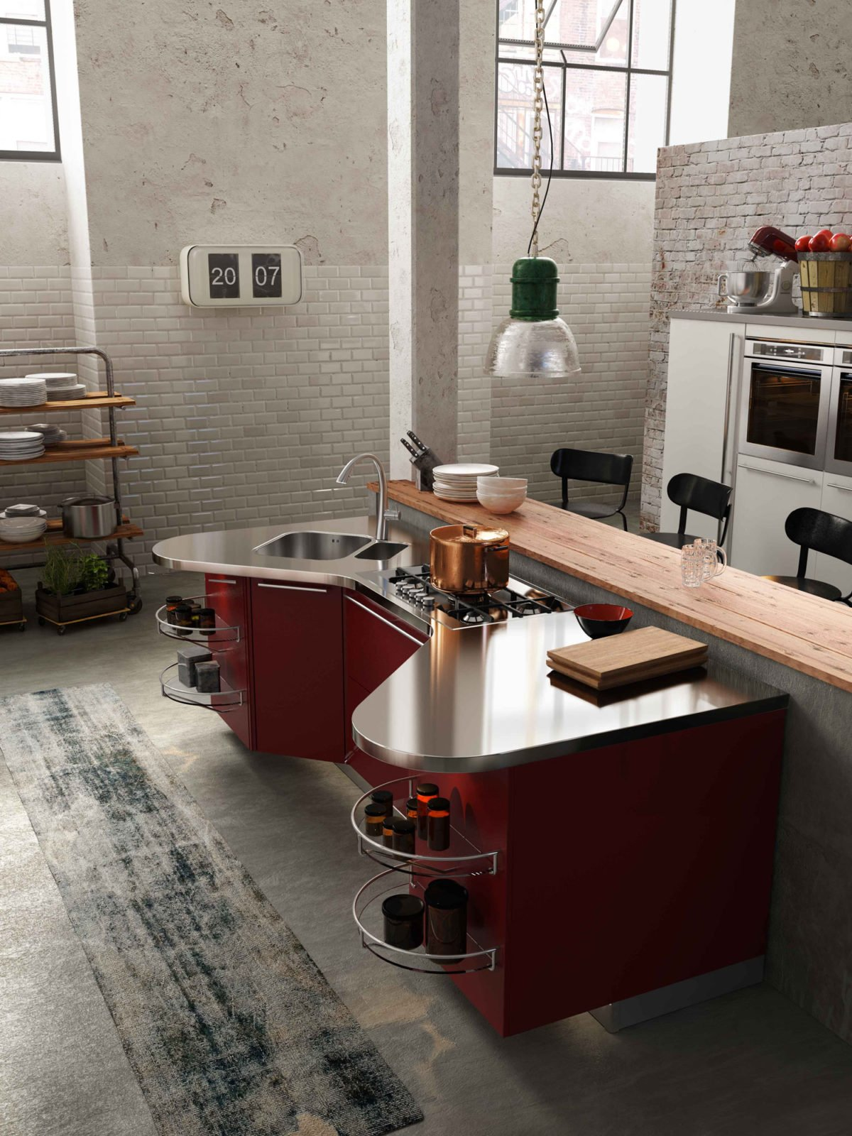 rustic-wood-breakfast-bar