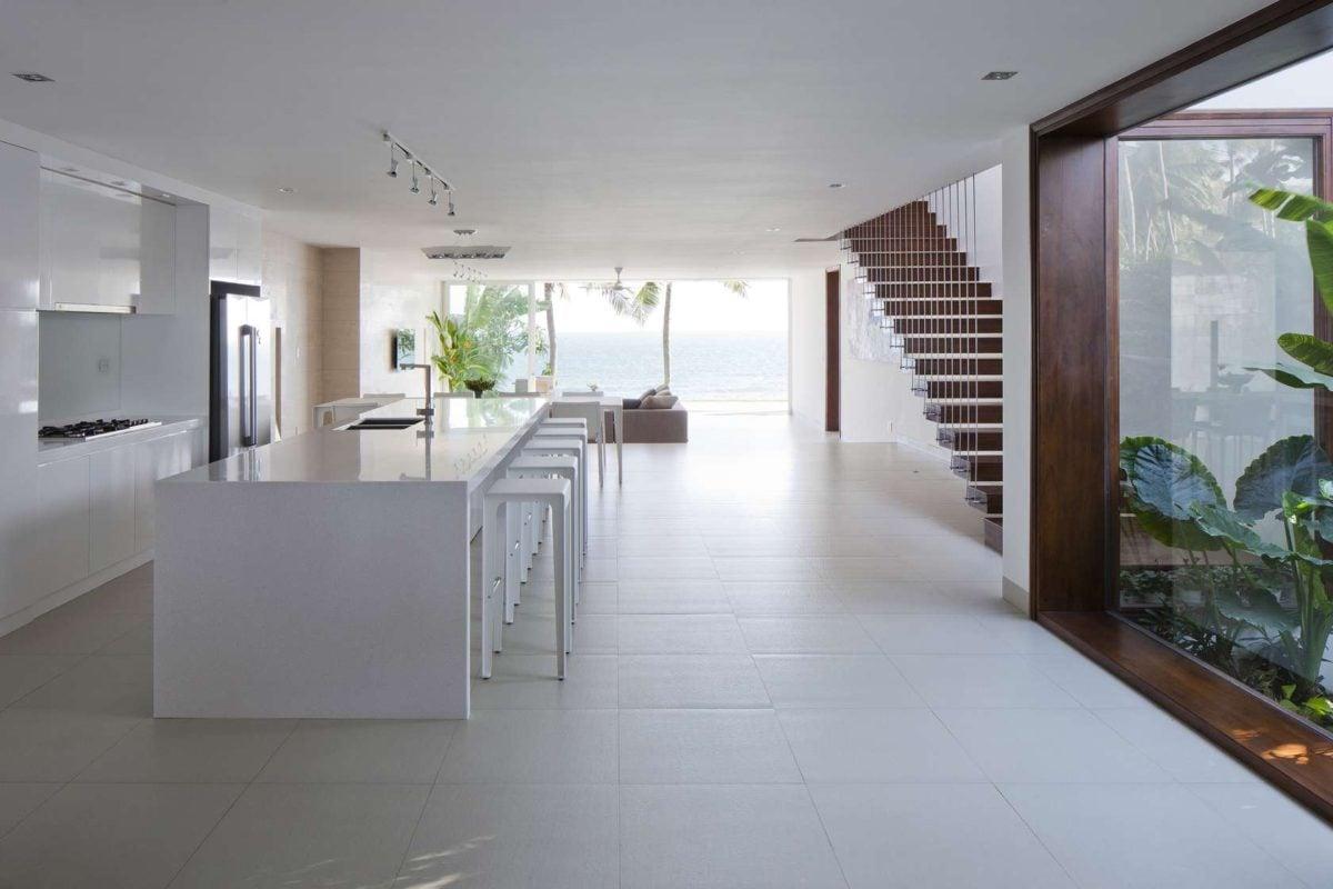 simple kitchen design Oceanique, dự án biệt thự sát biển. qpdesign